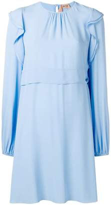 No.21 longsleeved flared dress