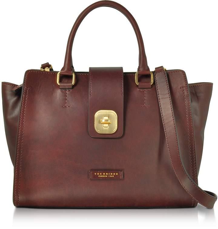 The Bridge Large Leather Top Handle Satchel Bag