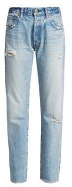 Moussy Steele High-Rise Distressed Straight Jeans