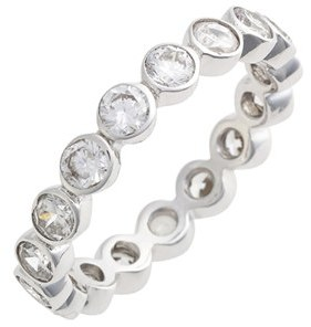 Women's Judith Jack Stackable Cubic Zirconia Bezel Ring $55 thestylecure.com