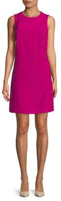 Tahari Scalloped Sleeveless Shift Dress