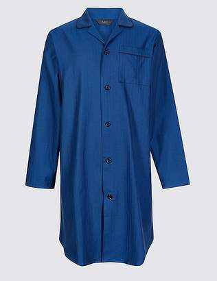 Marks and Spencer Pure Cotton Herringbone Nightshirt