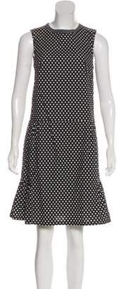 Marni Houndstooth Knee-Length Dress