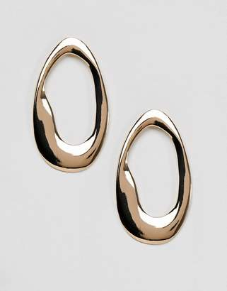New Look Abstract Over-Sized Hoop Earrings