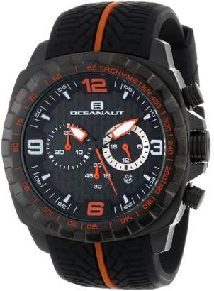 Oceanaut Men's OC1126 Racer Chronograph Stainless Steel Watch with Two-Tone Tire-Tread Strap