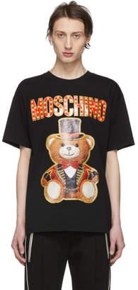 Moschino Black Ring Leader Bear T-Shirt