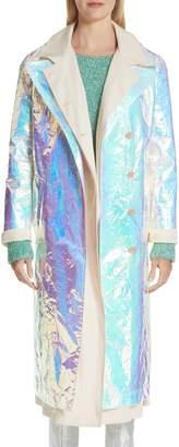 Sies Marjan Devin Iridescent Layered Trench Coat
