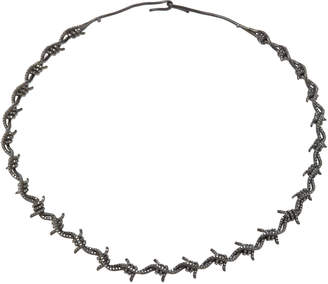 Black Diamond Lynn Ban Jewelry Black Rhodium Silver Choker