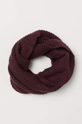 H&M Rib-knit Tube Scarf - Red