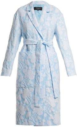 Rochas Floral-jacquard cotton-blend coat