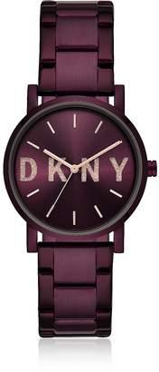 DKNY Soho Purple Tone Signature Glitz Watch