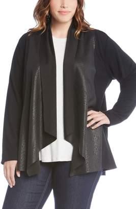 Karen Kane Contrast Drape Front Jacket