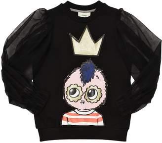 Fendi Cotton & Tulle Sweatshirt