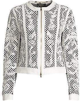 Escada Women's Lydneya Lattice Leather Jacket
