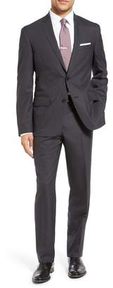 Nordstrom Tech-Smart Trim Fit Solid Stretch Wool Travel Suit