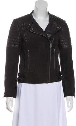 AllSaints Leather & Suede Biker Jacket