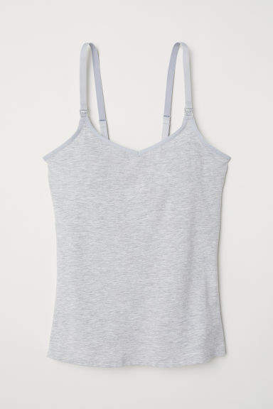 H&M - MAMA Camisole with Shelf Bra - Gray