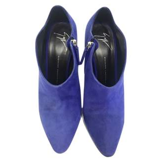 Giuseppe Zanotti Blue Suede Ankle boots