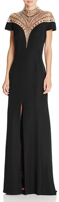 Tadashi Shoji Embellished Illusion Yoke Gown $588 thestylecure.com