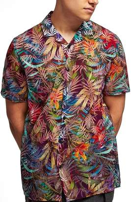 Topman Rainbow Palm Print Shirt