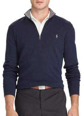 Polo Ralph Lauren Luxury Jersey Half Zip Sweatshirt