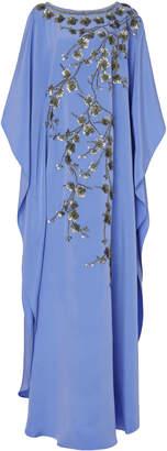 Joanna Mastroianni Exclusive Floral Embellished Silk Caftan