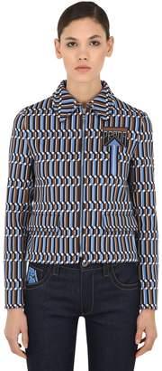 Prada Zip-Up Jacquard Jacket