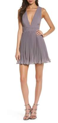 Fame & Partners The Briella Fit & Flare Pleat Dress