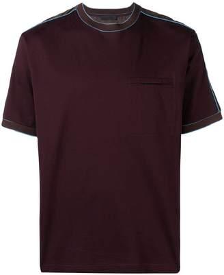Prada stripe panel T-shirt