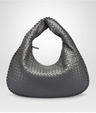 Bottega Veneta Light Gray Intrecciato Nappa Large Veneta Bag