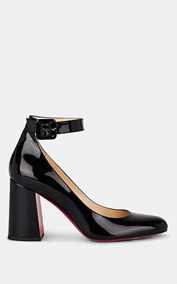 Christian Louboutin Women's Soval Patent Leather Mary Jane Pumps - Black