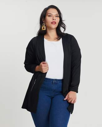 Evans Ponte Zip Jacket