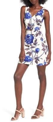Women's Soprano Floral Surplice Body-Con Dress $49 thestylecure.com