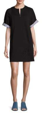 3.1 Phillip Lim 3.1 Phillip Lim Embroidered Cotton French Terry Tunic Dress