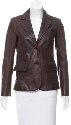 Thakoon Leather Button-Up Jacket