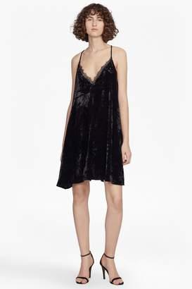 French Connection Lorraine Velvet Strappy Slip Dress