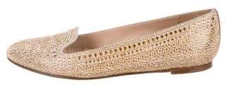 Valentino Suede Studded Loafers
