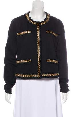 MICHAEL Michael Kors Chain-Trimmed Collarless Jacket