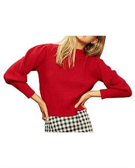 MinkPink Puffy Sleeve Jumper