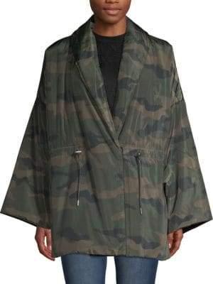 Camo-Print Long-Sleeve Jacket
