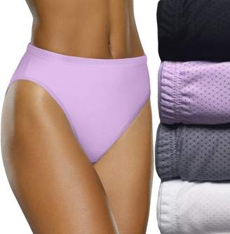 Fruit of the Loom 4-pack Breathable Hi-Cut Panty 4DSBBHC