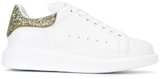 Alexander McQueen glitter lace-up sneakers $575 thestylecure.com