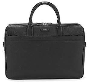 HUGO BOSS Double document case in natural grained leather