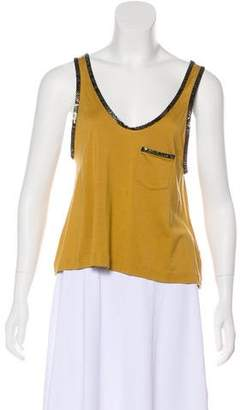 3.1 Phillip Lim Silk & Wool Sleeveless Top