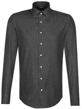 Seidensticker Denim Button-Down Shirt