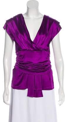 Christian Dior V-Neck Sleeveless Blouse