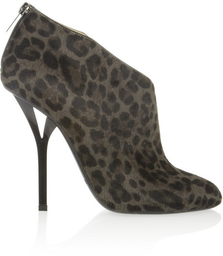Jimmy Choo Lane leopard-print calf hair ankle boots