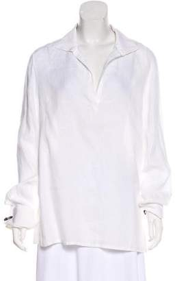 Loro Piana Linen Long Sleeve Top