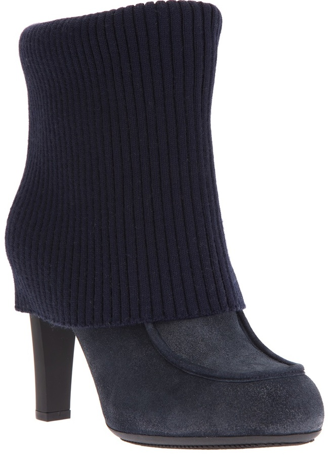 Hogan ribbed ankle boots