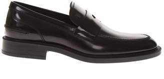Tod's Brown Shine Leather Loafers